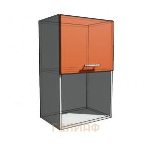 Верхний навесной шкаф 45 см с открытой полкой 1Д гор (720)