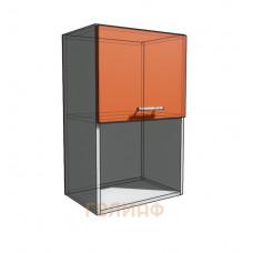 Верхний навесной шкаф 50 см с открытой полкой 1Д гор (720)