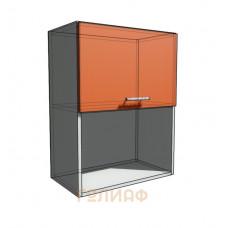 Верхний навесной шкаф 55 см с открытой полкой 1Д гор (720)