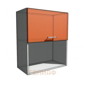 Верхний навесной шкаф 60 см с открытой полкой 1Д гор (720)
