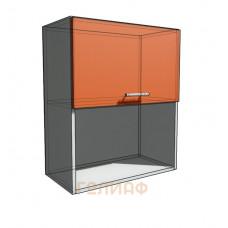 Верхний навесной шкаф 65 см с открытой полкой 1Д гор (720)
