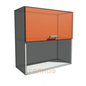 Верхний навесной шкаф 70 см с открытой полкой 1Д гор (720)
