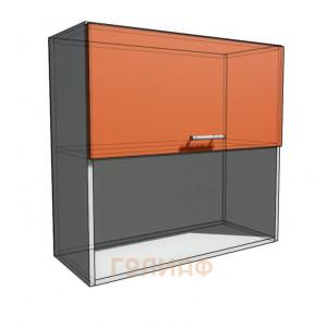 Верхний навесной шкаф 80 см с открытой полкой 1Д гор (720)
