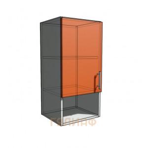 Верхний навесной шкаф 35 см с открытой полкой 1Д (720)