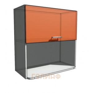 Верхний навесной шкаф 70 см с открытой полкой СВЧ (720)