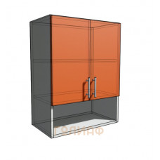 Верхний навесной шкаф 55 см с открытой полкой 2Д (720)