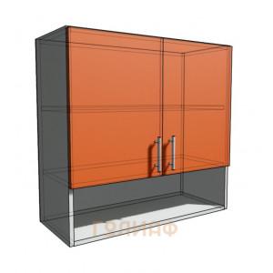 Верхний навесной шкаф 75 см с открытой полкой 2Д (720)