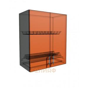 Верхний навесной шкаф 50 см 2Д под сушилку (720)