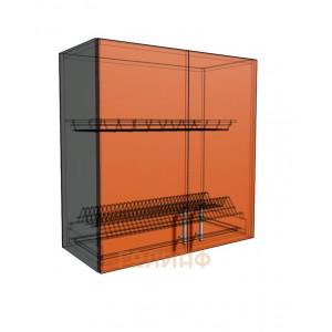 Верхний навесной шкаф 70 см 2Д под сушилку (720)