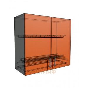 Верхний навесной шкаф 80 см 2Д под сушилку (720)