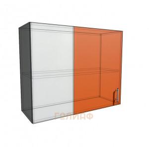 Верхний навесной шкаф 90 см проходного типа (720)