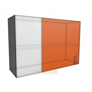 Верхний навесной шкаф 110 см проходного типа (720)