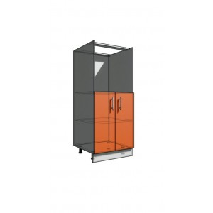 Пенал 1420 60 см духовка + 2 двери (550)