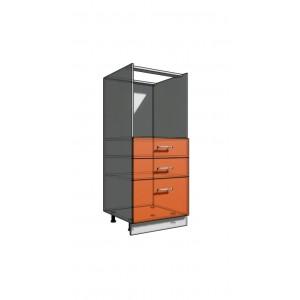 Пенал 1420 60 см духовка + 3 ящика (550)
