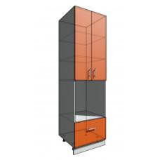 Пенал 2140 60 см 2 двери + Духовка + 1 Ящик (550)
