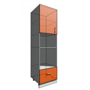 Пенал 2140 60 см 1 дверь + Духовка + 1 Ящик (550)