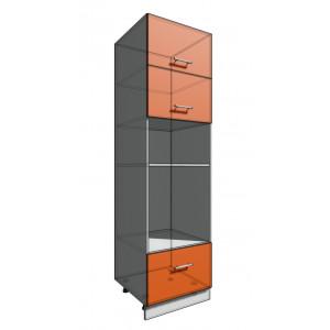 Пенал 2140 60 см 2 двери гор + Духовка + 1 Ящик (550)