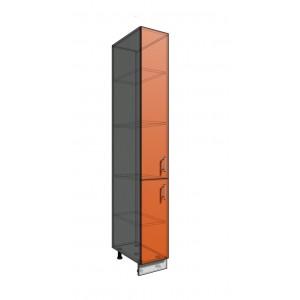Пенал шкаф 2140 30 см 2 двери (550)