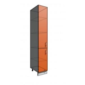 Пенал шкаф 2140 35 см 2 двери (550)
