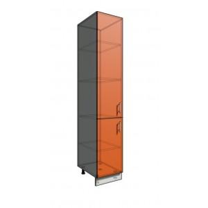 Пенал шкаф 2140 40 см 2 двери (550)