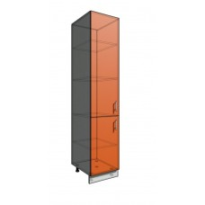 Пенал шкаф 2140 45 см 2 двери (550)