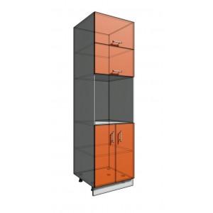 Пенал 2140 60 см 2 двери + Духовка + 2 Двери гор. (550)