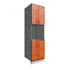 Пенал 2140 60 см 2 двери + Духовка + 2 Двери (550)