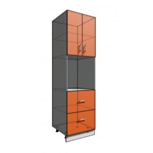 Пенал 2140 60 см 2 ящика + Духовка + 2 Двери (550)