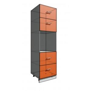 Пенал 2140 60 см 2 ящика + Духовка + 2 Двери гор (550)