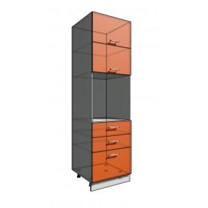 Пенал 2140 60 см 3 ящика + Духовка + 2 Двери гор (550)