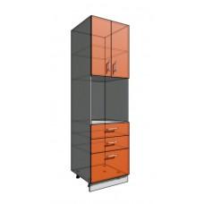Пенал 2140 60 см 3 ящика + Духовка + 2 Двери (550)