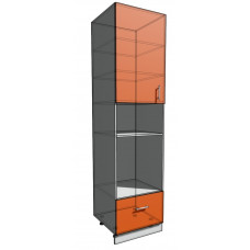 Пенал 2340 60 см 1 дверь + Дух + 1 Ящик (550)