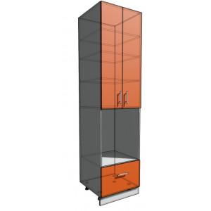 Пенал 2340 60 см 2 двери+ Дух + 1 Ящик (550)