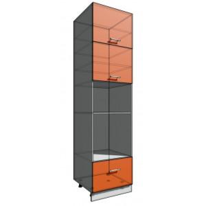 Пенал 2340 60 см 1 ящик + Духовка + 2 Двери гор (550)