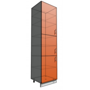 Пенал 2340 60 см 3 двери  (550)