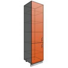 Пенал шкаф 2340 60 см 2 двери (550)