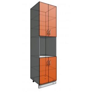Пенал 2340 60 см 2 двери + Духовка + 2 Двери (550)