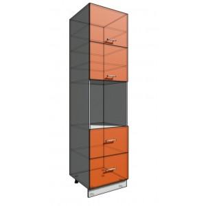Пенал 2340 60 см 2 ящика + Духовка + 2 Двери гор (550)