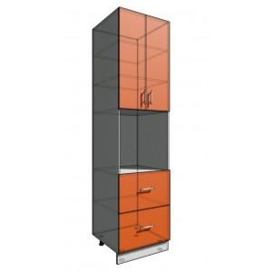 Пенал 2340 60 см 2 ящика + Духовка + 2 Двери (550)