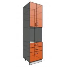 Пенал 2340 60 см 3 ящика + Духовка + 2 Двери (550)