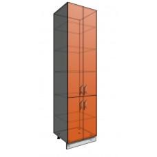 Пенал шкаф 2340 60 см 4 двери (550)