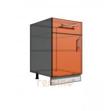 Нижний шкаф 50 рабочий 1 ящик 1Д (500)