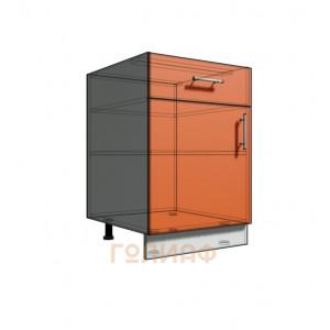 Нижний шкаф 55 рабочий 1 ящик 1Д (500)
