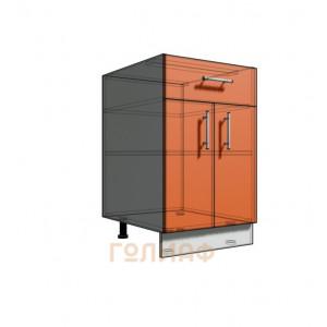 Нижний шкаф 50 рабочий 1 ящик 2Д (500)