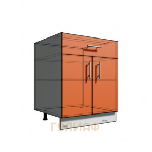 Нижний шкаф 65 рабочий 1 ящик (500)