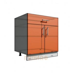 Нижний шкаф 75 рабочий 1 ящик 2Д (500)