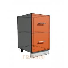 Нижний шкаф 45 рабочий 2 ящика (500)