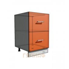 Нижний шкаф 50 рабочий 2 ящика (500)