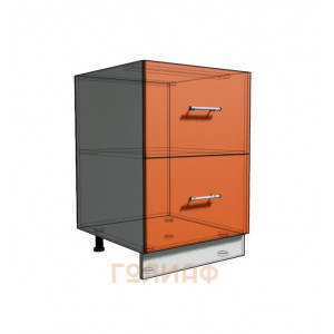 Нижний шкаф 55 рабочий 2 ящика (500)