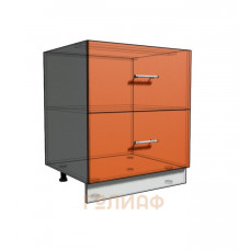 Нижний шкаф 70 рабочий 2 ящика (500)